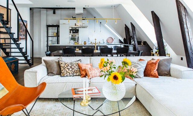 Veckans hem: Vindsvåning på Kungsholmen med en perfekt mix av modernt och rustikt
