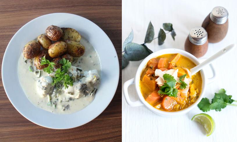 5 enkla och nyttiga recept på gratänger och grytor för att fylla veckans matlådor