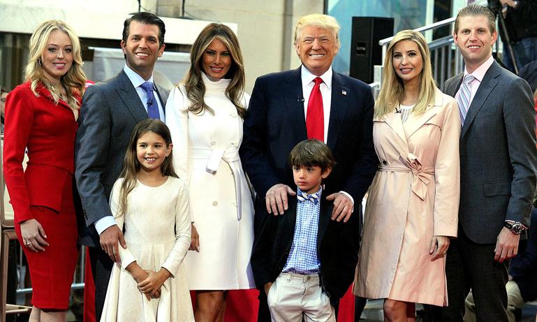 Lär känna gänget som snart blir mäktigast i världen – familjen Trump