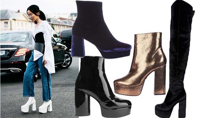 Vinterns trendigaste boots är svindlade höga med platå