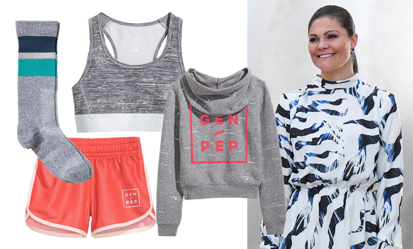 Kronprinsessan Victoria och Gen-Pep släpper träningskollektion med H&M