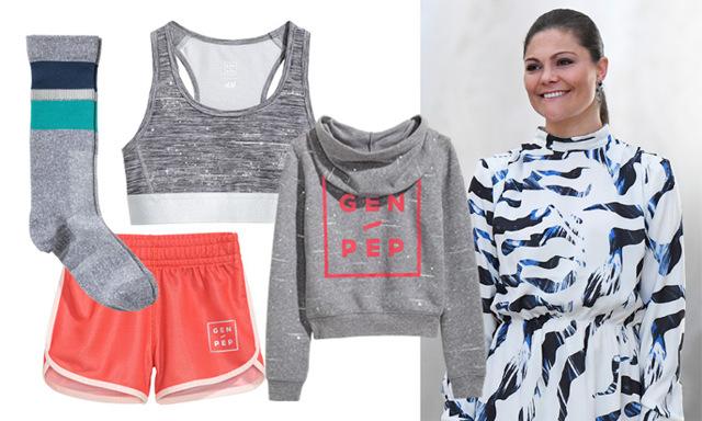 Kronprinsessan Victoria släpper träningskollektion med H&M