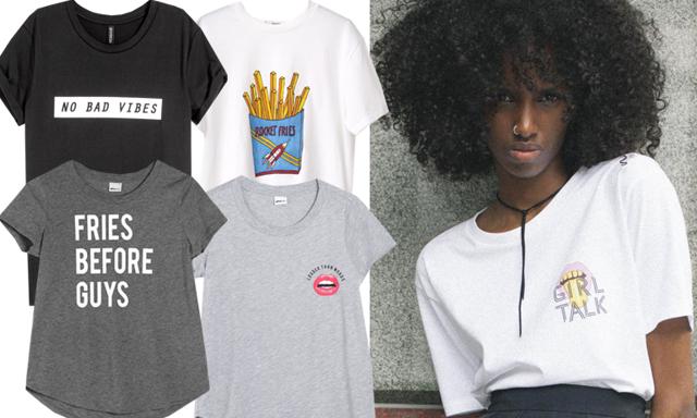 10 snygga och trendiga t-shirtar med tryck