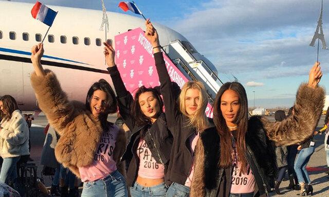 Victoria's Secret 2016 – modellernas bilder från planet mot Paris!