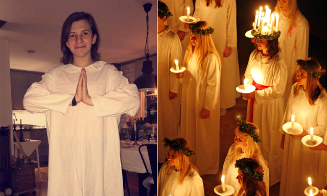 15-åriga Albin blev skolans lucia: