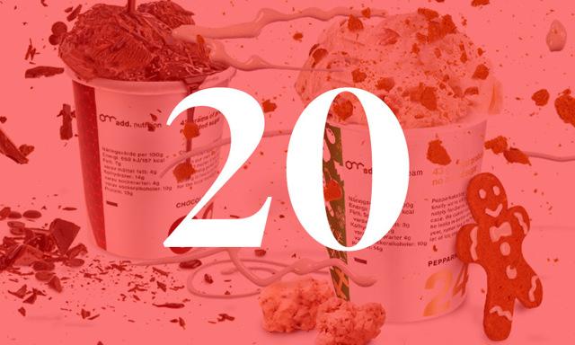 Metro Modes julkalender: Lucka 20 är fylld med god och lyxig hälsoglass
