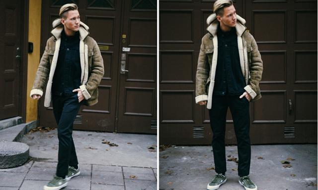 Sno stilen av stilsäkra artisten och modebloggaren Viktor Frisk