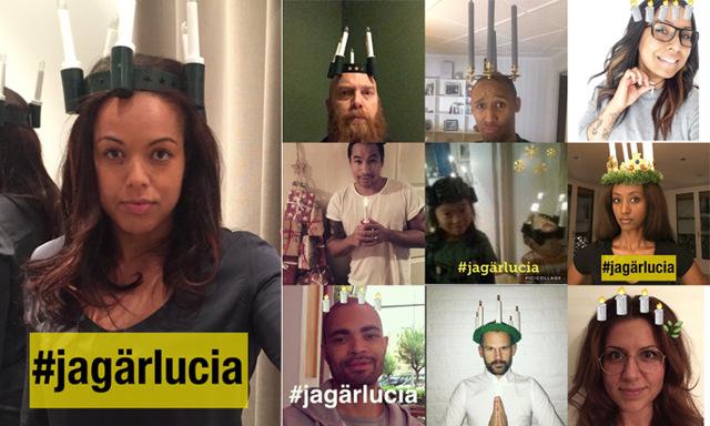 Efter hatattacken mot Åhléns Lucia-kampanj – Elaine Eksvärd skapar #Jagärlucia