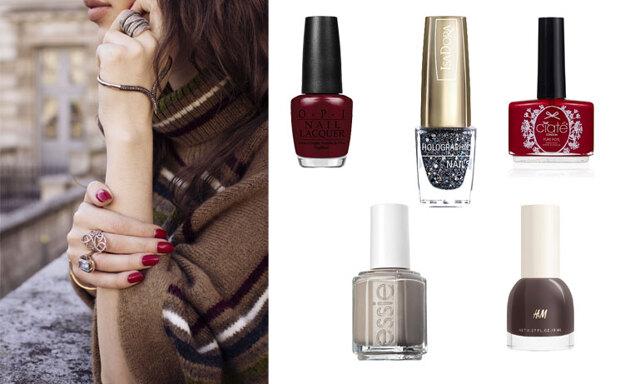 De 12 trendigaste nagellacksfärgerna att bära under december