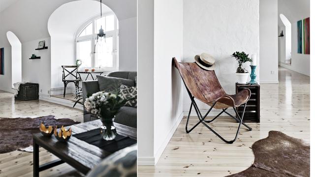 Skandinavisk inredning och maffiga fönster i veckans finaste tvåa