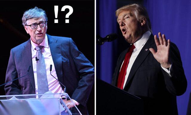 Donald Trump vill nu stänga ner internet – med hjälp av Bill Gates