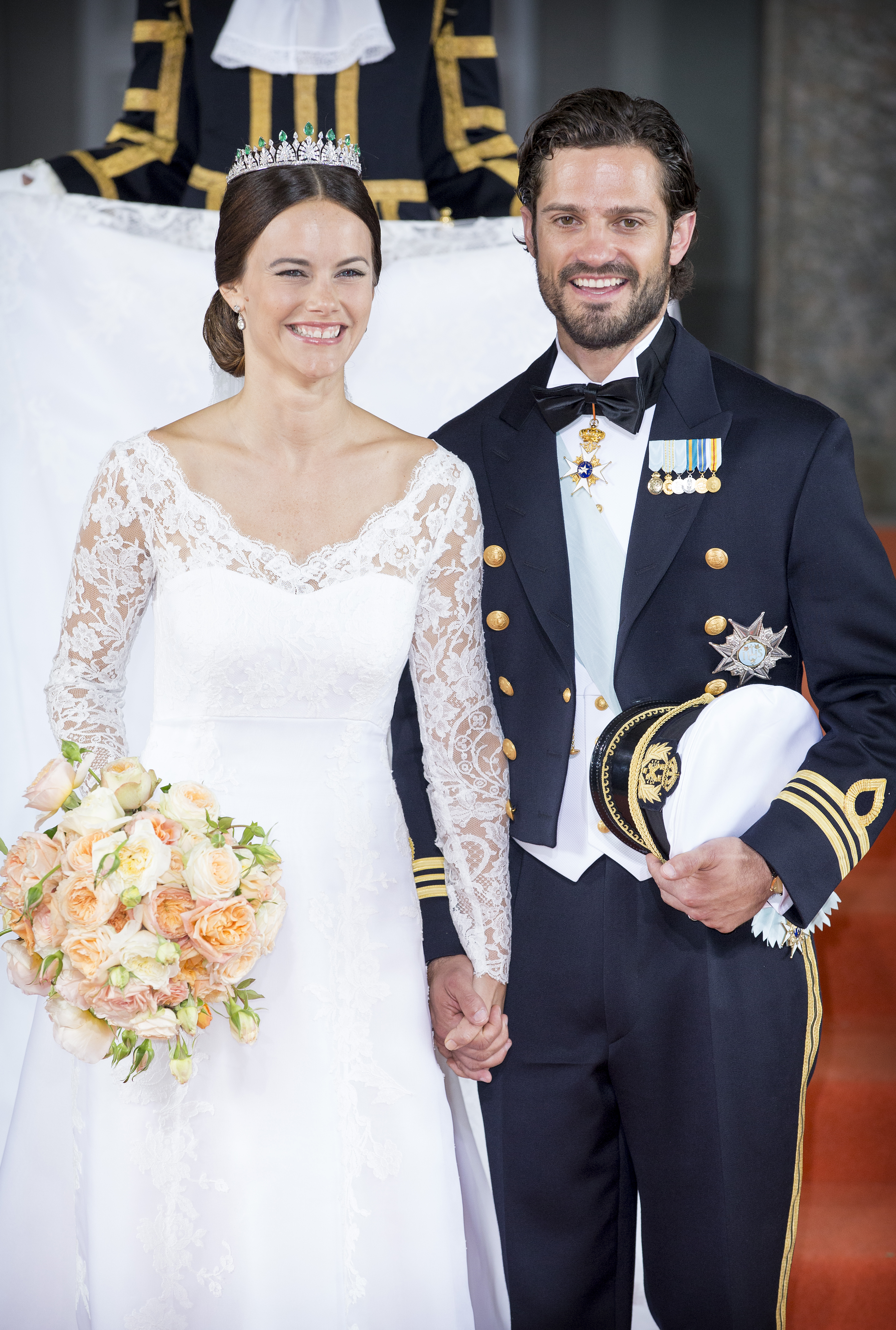Mandatory Credit: Photo by Tim Rooke/REX/Shutterstock (4848154cs) Prince Carl Philip and Princess Sofia of Sweden The wedding of Prince Carl Philip and Sofia Hellqvist, Royal Palace, Stockholm, Sweden - 13 Jun 2015