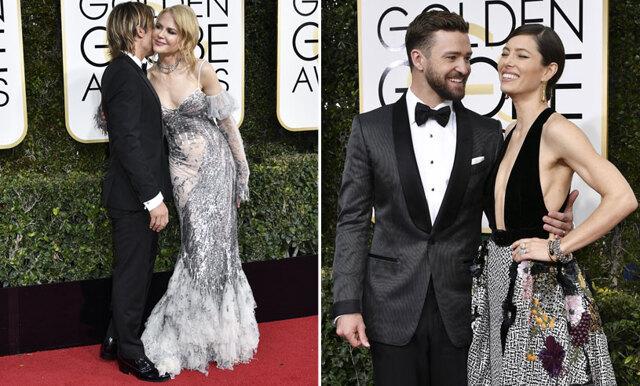 De 10 snyggaste (och sötaste) paren på Golden Globes