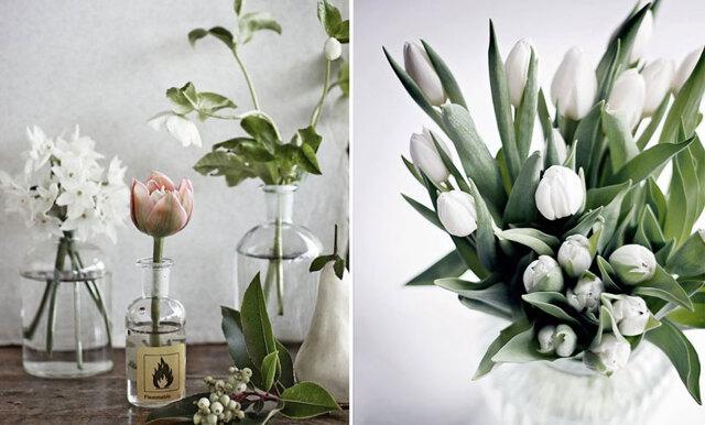 Inspireras av vårens vackraste tulpanbuketter
