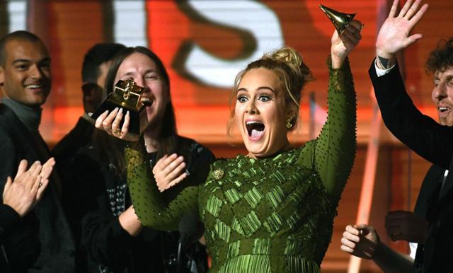 Därför delade Adele sitt pris med Beyoncé under Grammy-galan