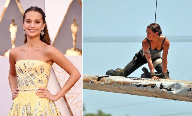Se första bilderna på Alicia Vikander som Lara Croft!