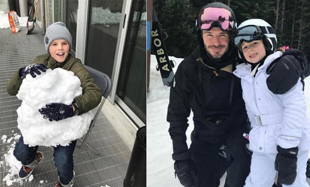 """Familjen Beckham ger oss en bild av """"Family vacation goal"""""""