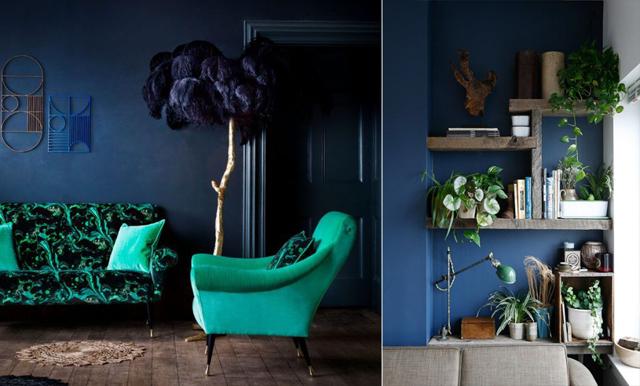 Inspireras av årets finaste färgkombination - blå och grön