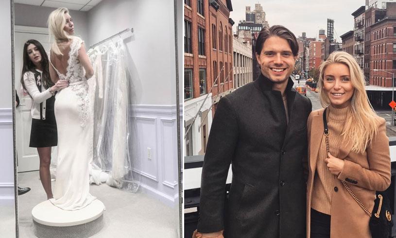 Följ med när Sanne Alexandra provar ut sin bröllopsklänning!