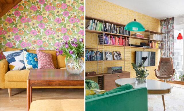 Inspireras av den färgglada 70tals-lägenheten