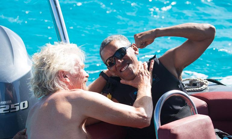 Semester-Obama fortsätter att njuta av livet i Karibien