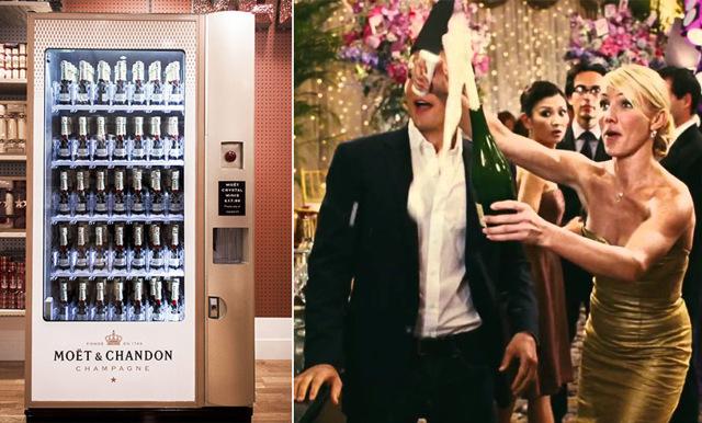Kolla in klippet på champagne-automaten som är den ultimata partyhöjaren