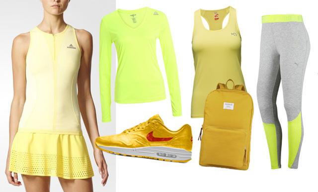 14 snygga träningskläder i vårens trendfärg gult