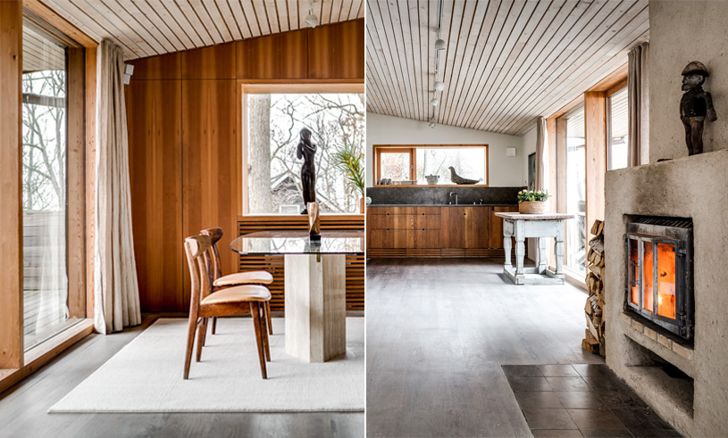 Futuristiskt och naturnära i den arkitektritade villan från 70-talet