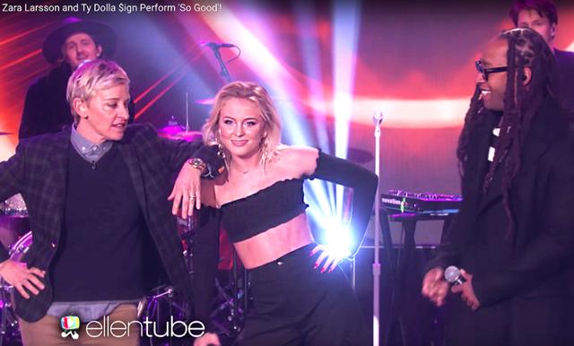Klipp: Kolla in när Zara Larsson tar över scenen hos Ellen DeGeneres