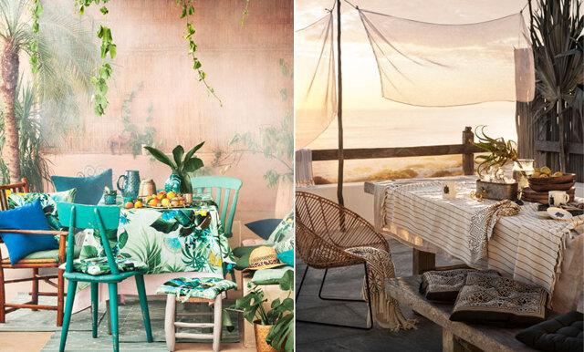 Se alla bilder från H&M Homes bohemiska sommarkollektion