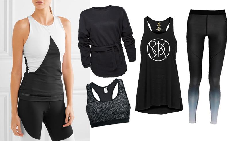 Svart med en twist – 10 träningskläder i basfärgen som alltid funkar