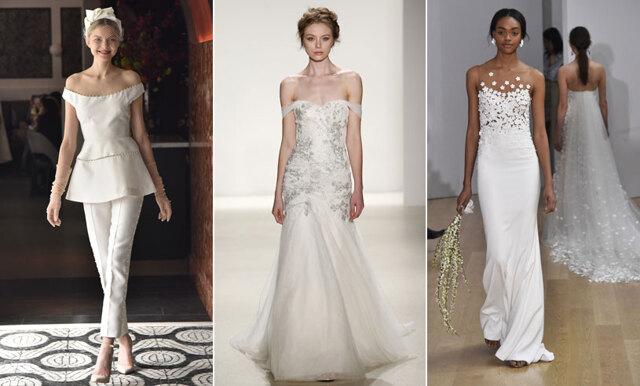 De 20 vackraste bröllopsklänningarna från Bridal Fashion Week