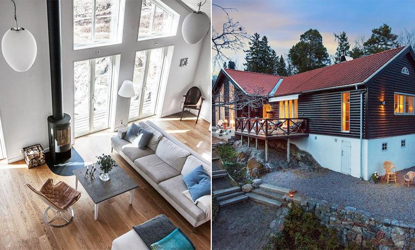 Den här vackra villan med parkliknande trädgård väcker våra husdrömmar till liv