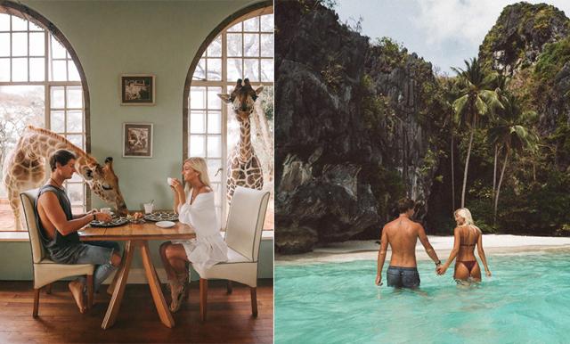 Paret sa upp sig från sina jobb för att resa – lever idag på sina 2 miljoner följare