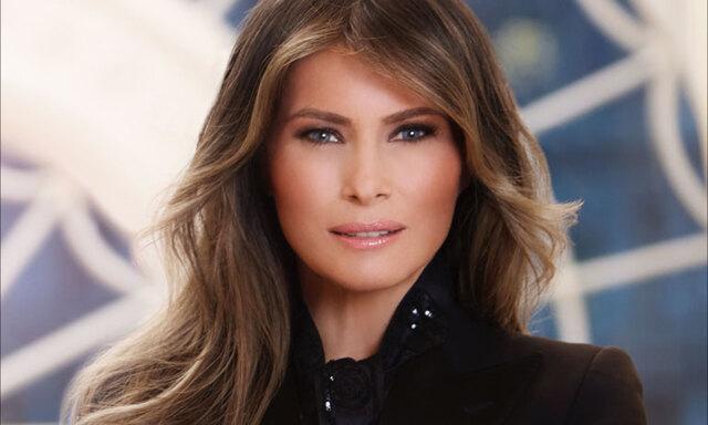 Därför har första officiella bilden på Melania Trump vält internet