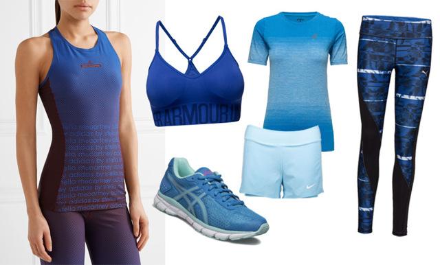 18 snygga träningskläder och löparskor i sommarens trendigaste nyanser av blått
