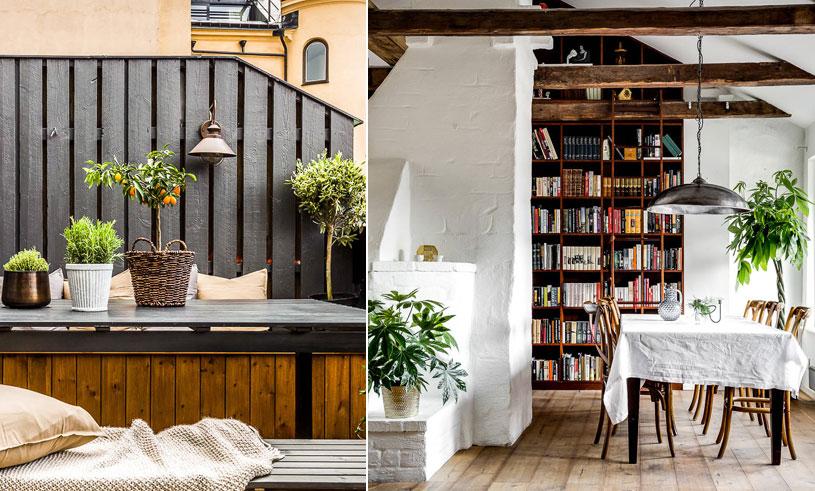 Veckans hem är vindsvåningen som erbjuder lantlig lyx mitt i Stockholms innerstad