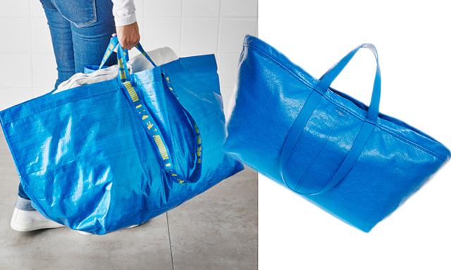 Kända varumärket släpper lyxväska som är en kopia av Ikeapåsen