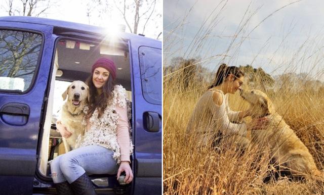 Marina sa upp sig från sitt jobb – nu reser hon Europa runt med sin hund Odie