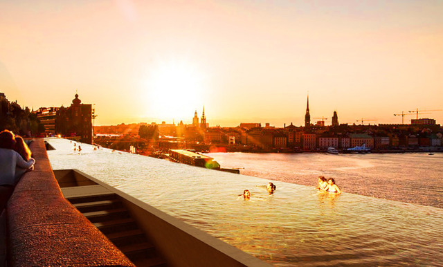 Stockholm kan få magisk och kilometerlång utomhuspool mitt i stan