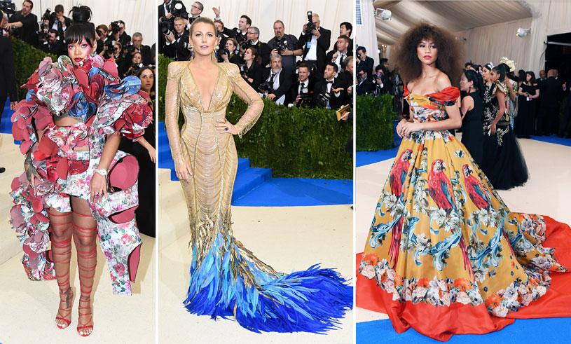 Se de finaste och mest spektakulära klänningarna från Met-galan 2017