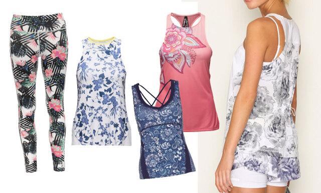Träna blommigt i sommar – 11 mönstrade linnen och tights för semesterträningen