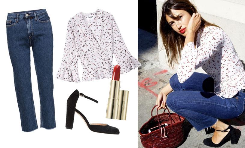 Sno den franska stilen (som alla älskar just nu) från modellen Jeanne Damas