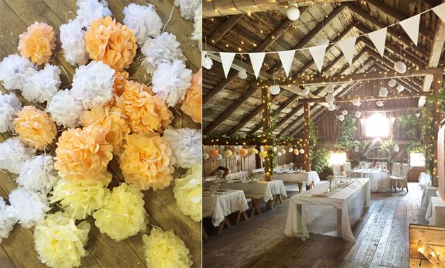 3 enkla saker som fixar drömmigaste bröllopslokalen – i en lada