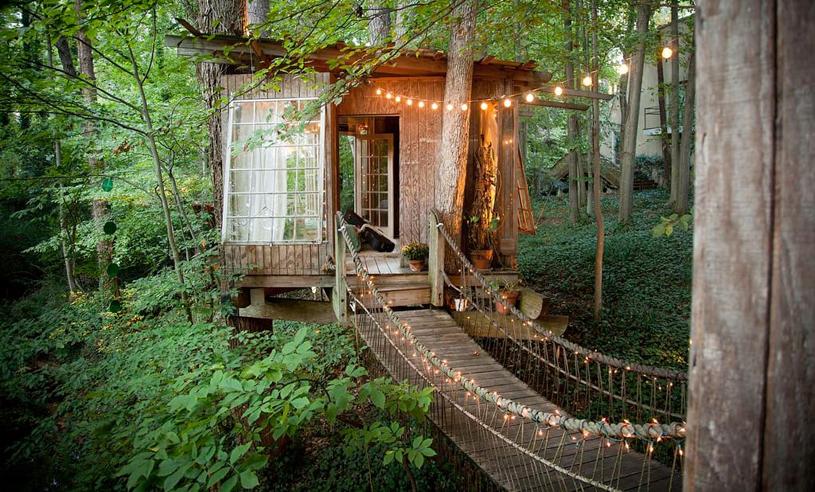 Populäraste hemmet på Airbnb! Kolla in i det magiska trähuset