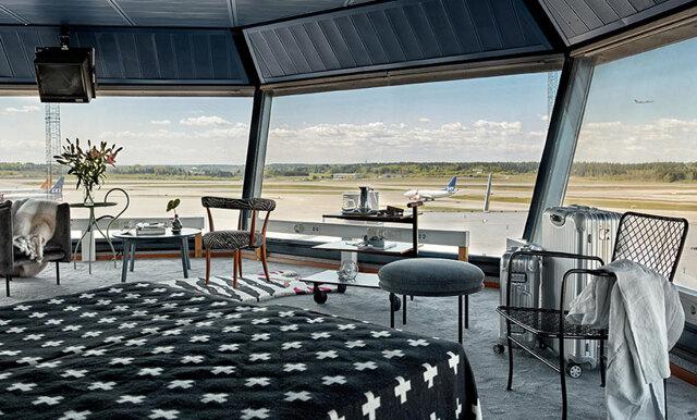 Arlanda flygplats förvandlar kontrolltorn till lyxig designlägenhet
