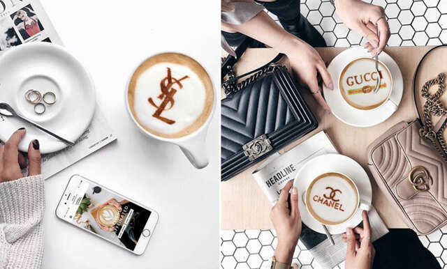Chanelkaffe, någon? Instagramkontot med lyxigaste lattekonsten