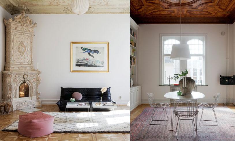 Inspireras av den här pampiga inredningsdrömmen med unika detaljer i Malmö