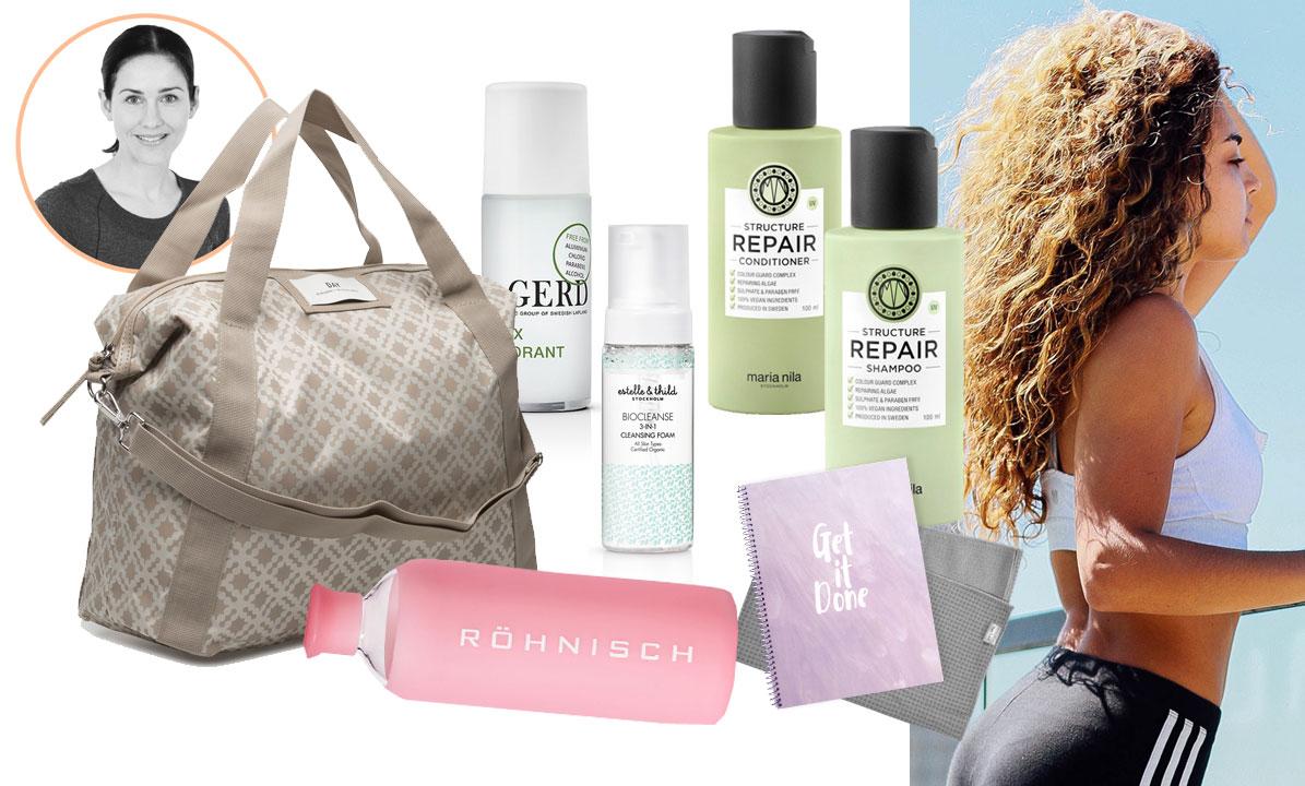 Packa höstens träningsväska med 13 grymma produkter för huden, håret – och motivationen!