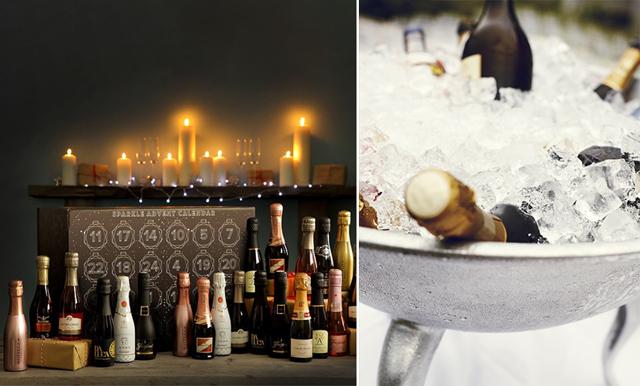 En bubblig dröm! Räkna ner till julafton med 24 luckor champagne och prosecco